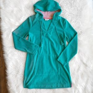 Boden Terry Clothe Hooded Tunic Q0949